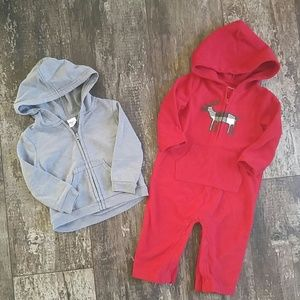 Other - Boys 9 Months Fall Winter Hooded Outerwear Set